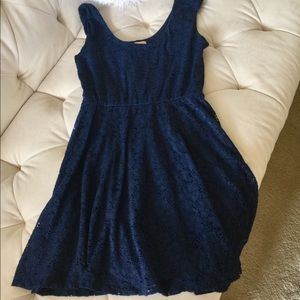 Candie's Navy Lace Top Dress